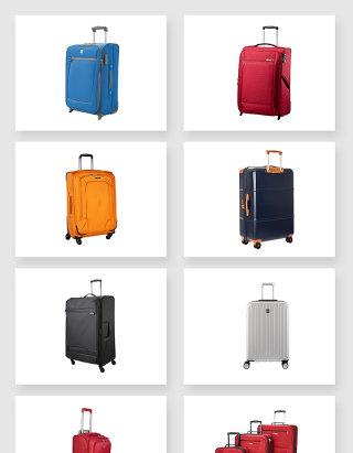 各大尺寸大小的行李拉杆箱设计素材