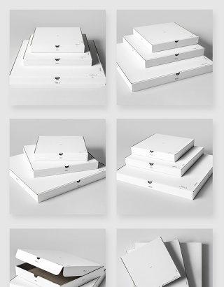 白色产品包装盒飞机盒样机素材