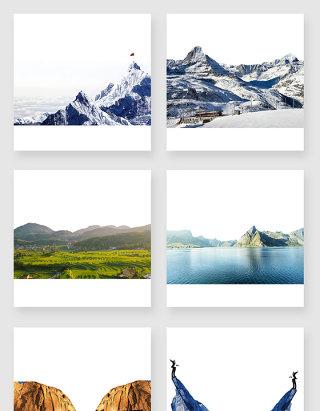 真实的山峰设计元素