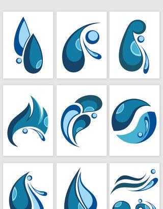 水滴创意图标矢量元素