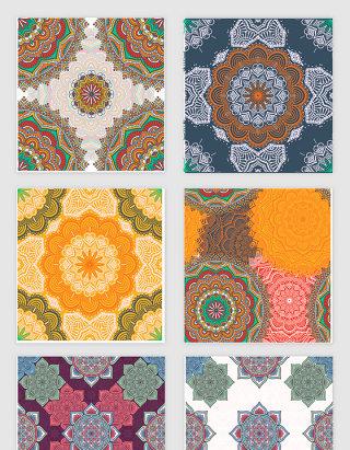 彩色花纹纹理素材