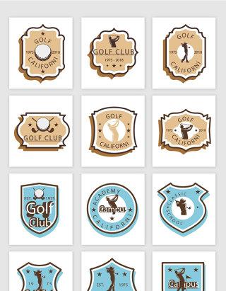 高尔夫标志设计素材