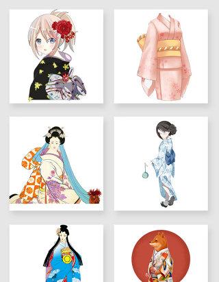 日本和服女性设计素材