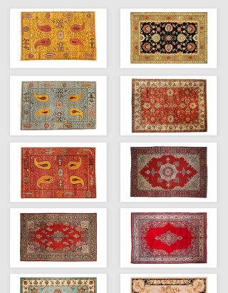 高清免抠欧式复古毛毯地毯