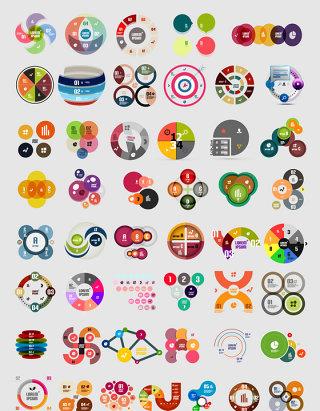 创意圆形图标矢量素材