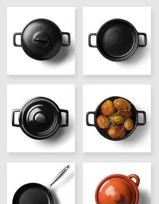 厨房产品设计砂锅锅具高清样机素材