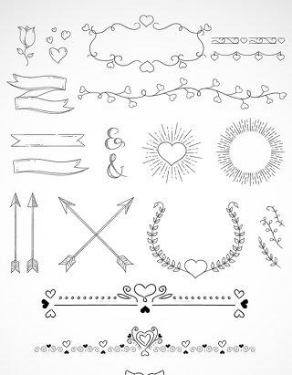 欧式边框标签矢量图欧式花纹花边设计元素