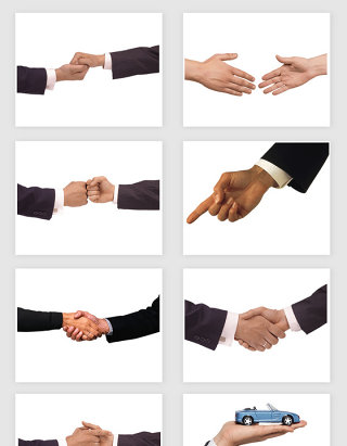 高清免抠商务握手合作手部动作