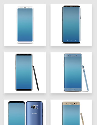 屏占比最高三星曲面屏安卓智能手机模型样机
