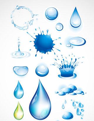 水珠水滴设计素材