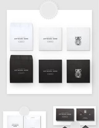 品牌VI系统名片办公用品贴图样机模板