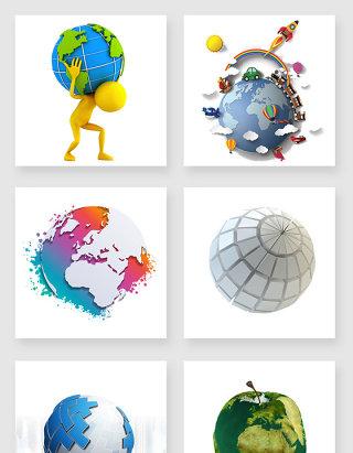 立体地球设计元素