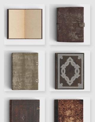 做旧复古书籍书本高清psd素材