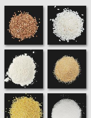 大米面粉杂粮高清PSD素材