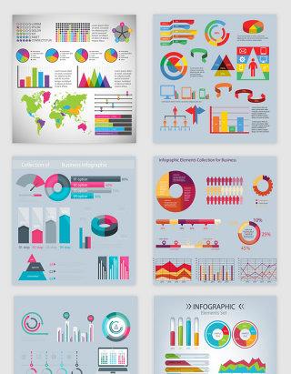 彩色图形图表集合