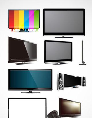 电脑电视电子产品矢量素材