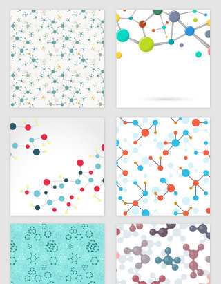 科技线条微观分子纹理矢量素材