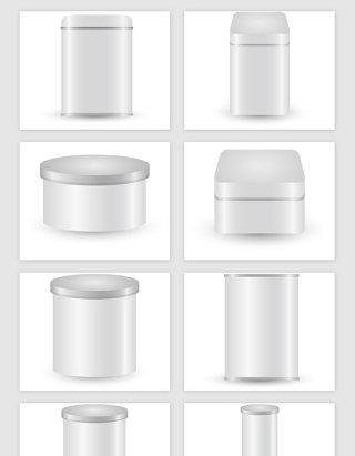 灰色光泽盒子矢量素材