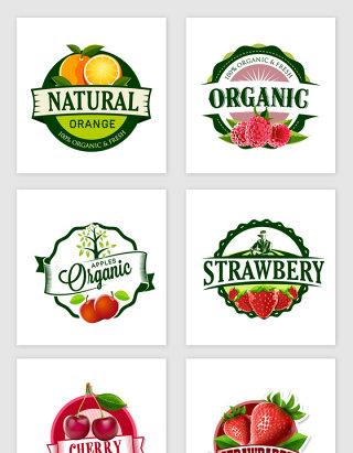 各种水果标签设计素材