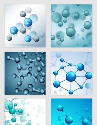 医疗科技线条分子纹理矢量素材