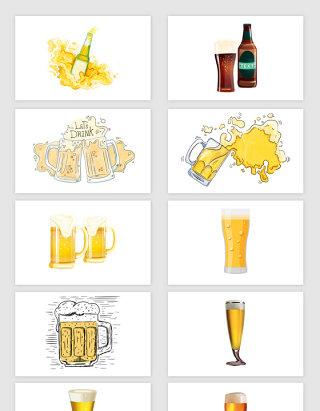 矢量高清啤酒元素