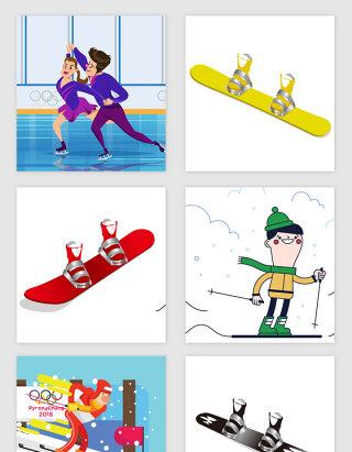 冬季奥运会体育运动矢量素材