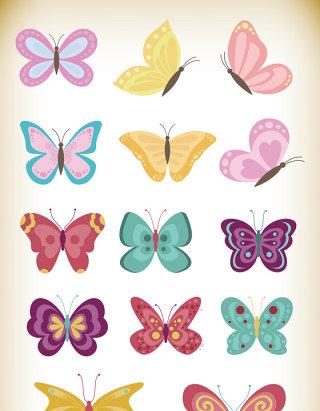 可爱卡通蝴蝶