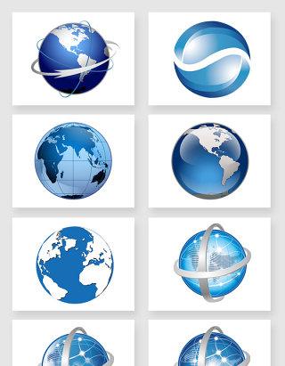 蓝色科技地球仪球体设计素材