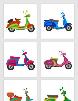 卡通风摩托车矢量素材
