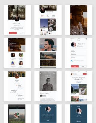 人物简介app界面设计素材