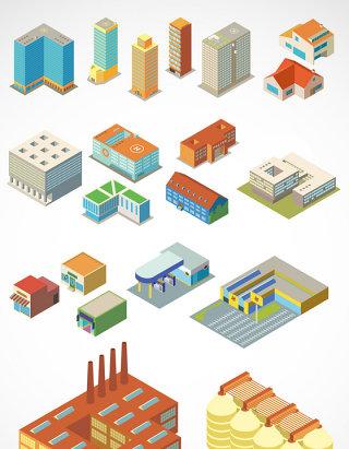 房屋建筑物图标矢量图形