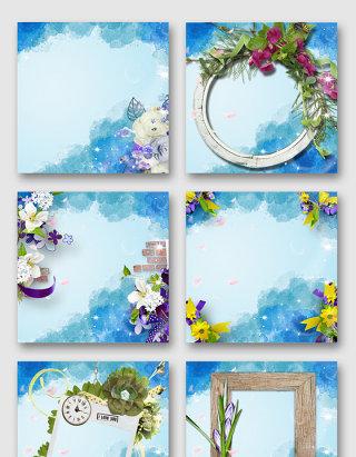唯美花装饰边框素材