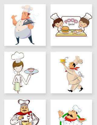 手绘可爱卡通厨师png素材