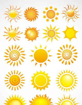 太阳太阳元素矢量图标