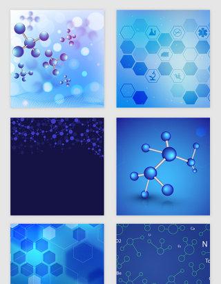 科技蓝色线条分子纹理矢量素材