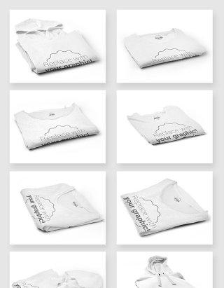 服装品牌LOGO贴图样机模板素材