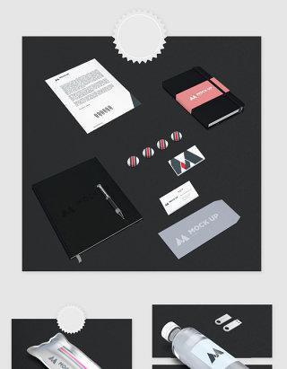 高清PSD分层办公用品贴图样机素材