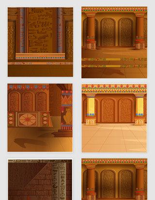 古埃及建筑矢量设计