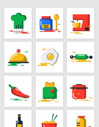 厨房烘焙材料工具矢量元素