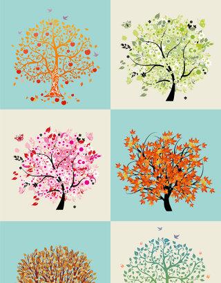 矢量大树设计元素