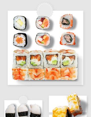 日式寿司卷美食实物图形