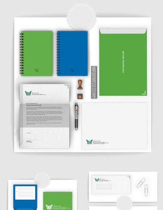VI设计办公用具样机素材
