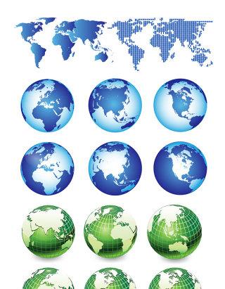 创意地球矢量设计素材