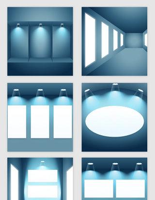 3D空间灯光效果矢量素材