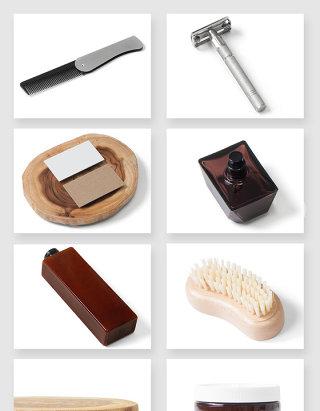 美容理发店产品设计贴图样机素材