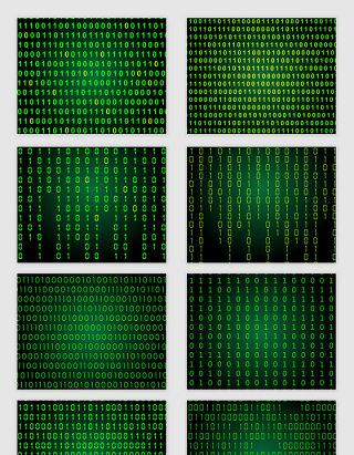 矢量绿色数字科技矩阵底纹图案
