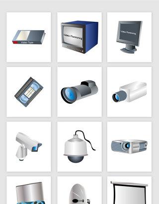 矢量办公电子产品素材