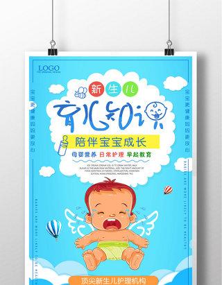 新生儿育儿知识婴儿护理妇产妇幼保健海报
