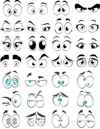 漫画卡通眼睛