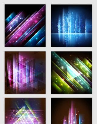 渐变炫彩光效矢量素材